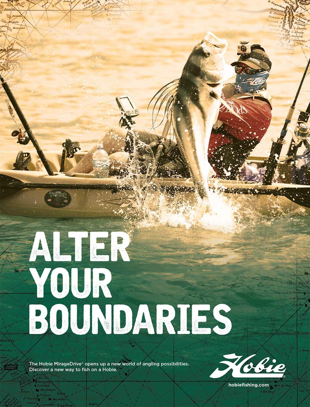 Hobie Fishing Ad by Bob Burks