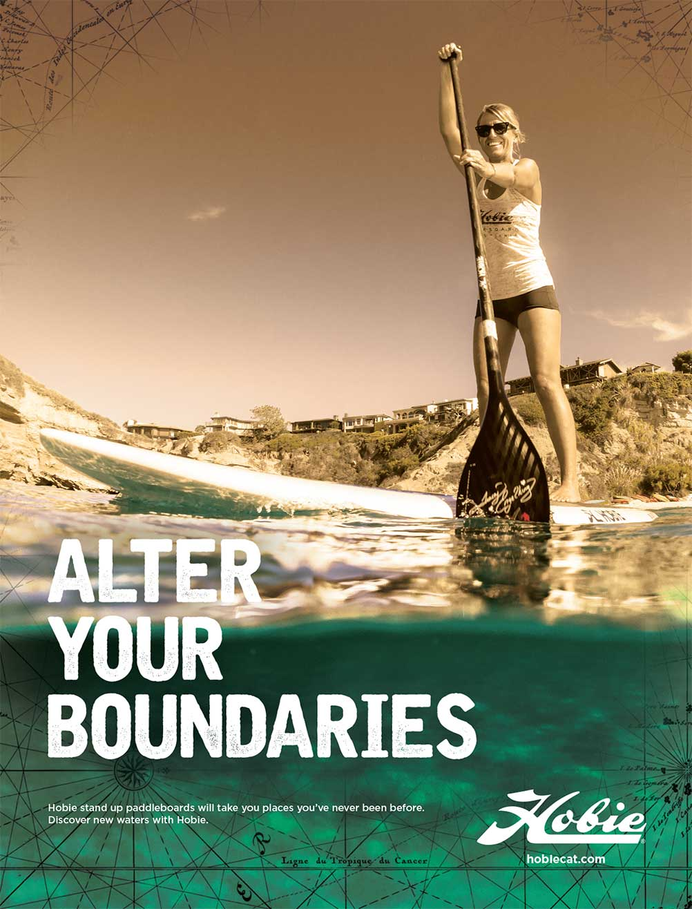 Hobie Stand Up Paddle Ad by Bob Burks