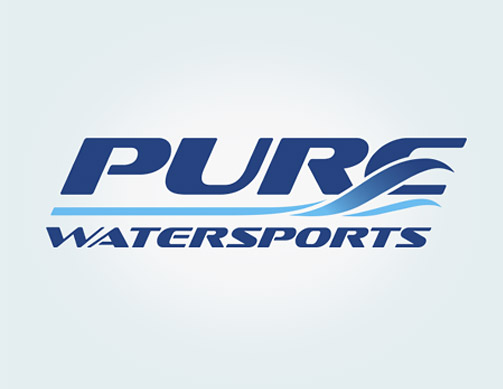 Pure Watersports logo by Bob Burks