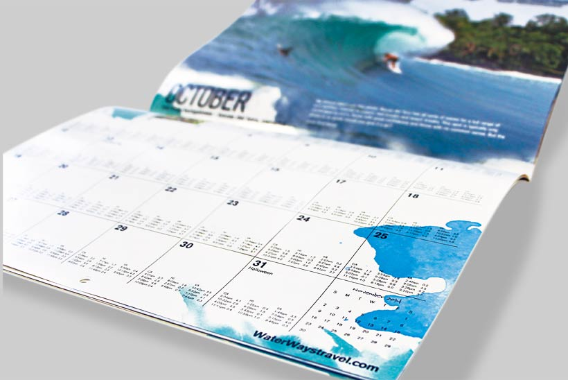 WaterWays calendar design by Bob Burks